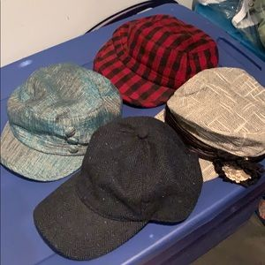 Lot of 4 variety hats